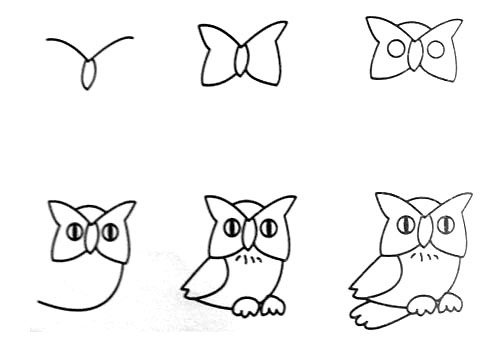 Let's draw an owl.