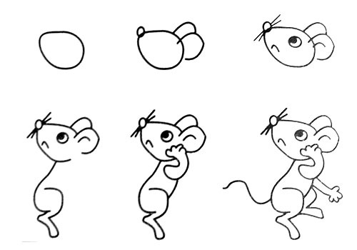 Let's draw a small mouse.