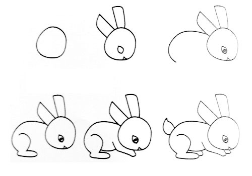 Let's draw a small rabbit.